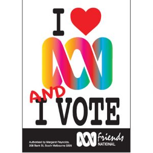 ABCF Poster - I love the ABC and I vote A4