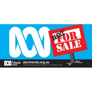 ABC Bumper Sticker 210x99mm Not for Sale