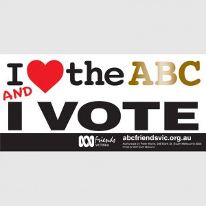 ABC VIC Bumper Sticker 210x99mm Love ABC