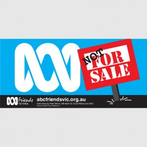 ABC VIC Bumper Sticker 210x99mm Not for Sale