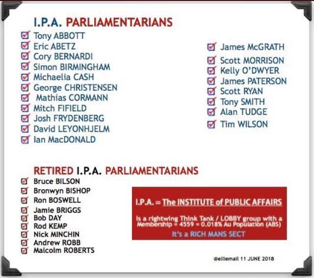 IPA Parliamentarians past and present 2018